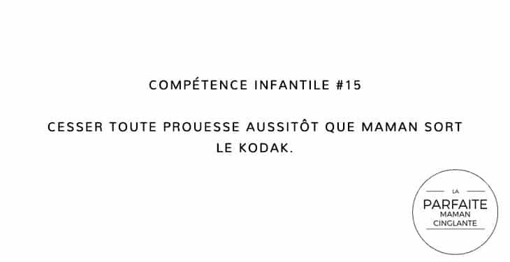 COMPETENCE INFANTILE 15 KODAK