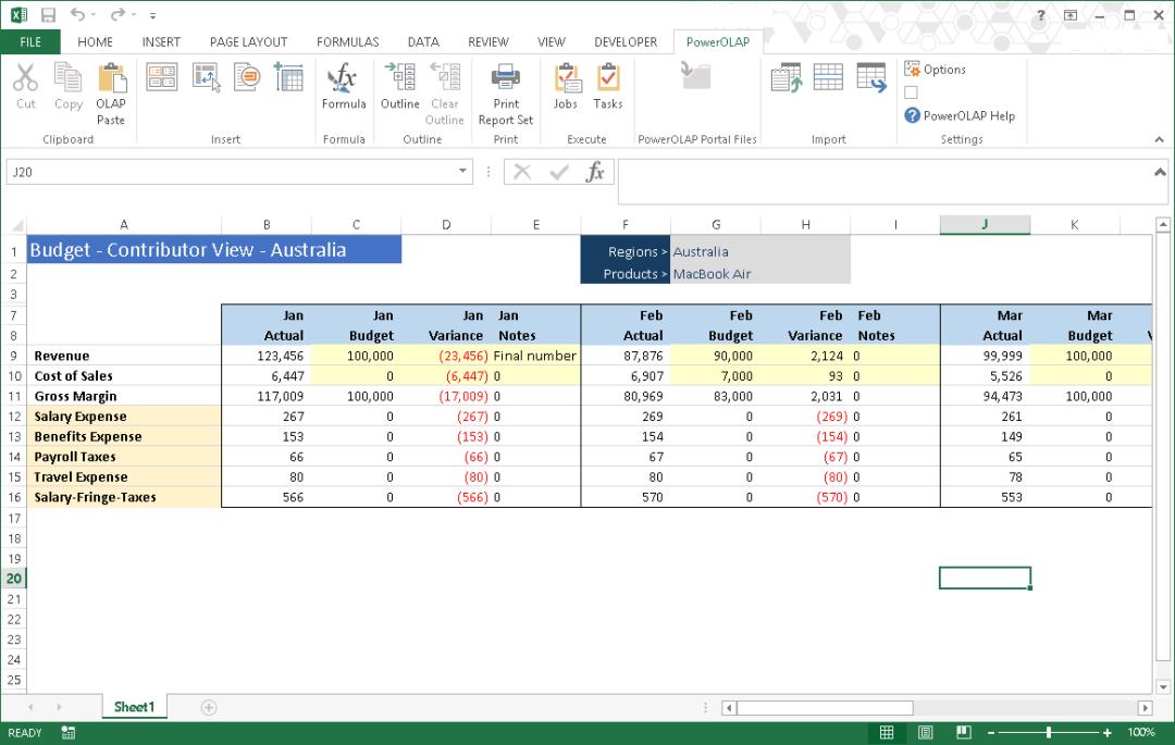 v18 Excel