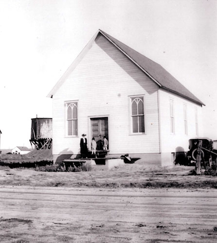 Ave Maria Catholic Church Town of Parker Colorado early 1900's