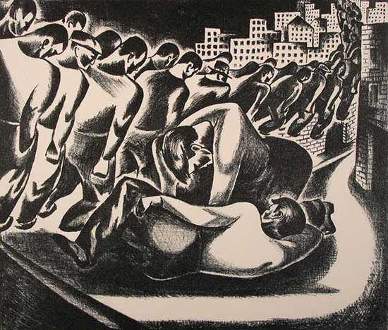 Leon Bibel Unemployed Marchers