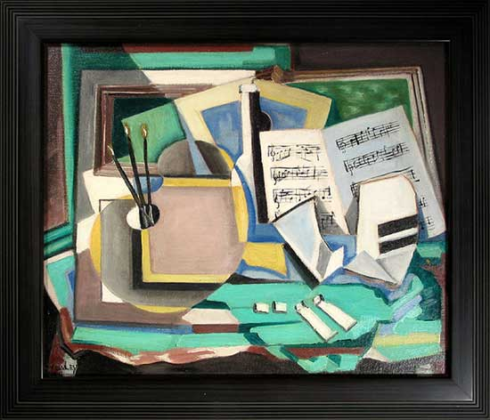 Harry Crowley Still Life with Music and Palette