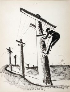 bibel-essay-man-on-telephone-pole