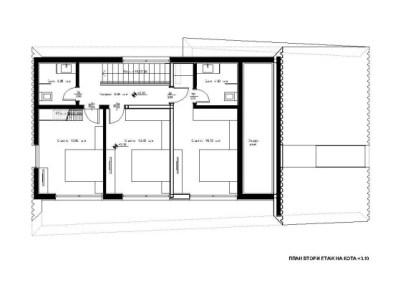 План деревянного современного дома с гаражом 2