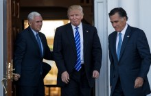 Governor Romney meets with President-elect Donald Trump.
