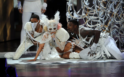 "Anyone else think of Madge's ""Vogue"" or ""Like A Virgin"" performance during Gaga?"
