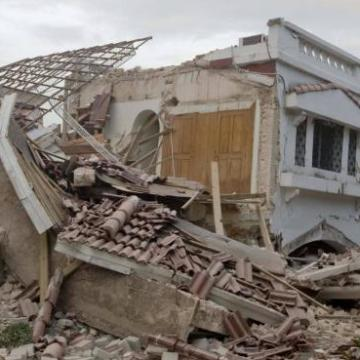 A destroyed building in Port-au-Prince after the earthquake struck Haiti on Tuesday