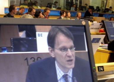 EESK loceklis Andris Gobiņš sniedz savu prezentāciju