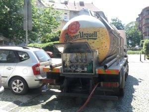 Pilsner by the tanker truck