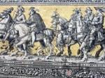 detail of Miessen tile mural in Dresden
