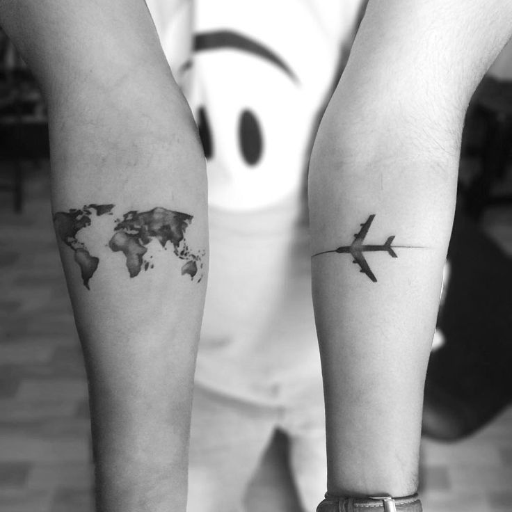 world map with airplane travel tattoo   Parryz com