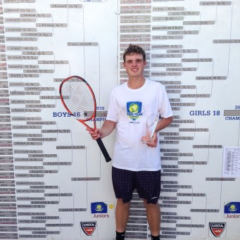 Ryan Goetz has been training for 3 years in my program. He's gone from a strong sectional player to winning one of the biggest junior tournaments in the world, the Eddie Herr International in November 2015. Currently, Ryan is ranked #350 in the world in juniors.