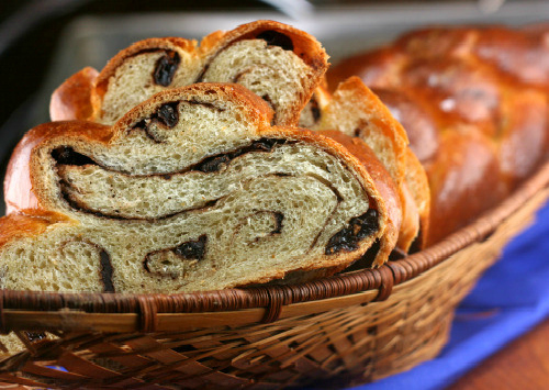 Chocolate Cinnamon Raisin Swirl Challah