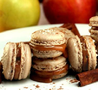 Cinnamon Caramel Apple Macarons