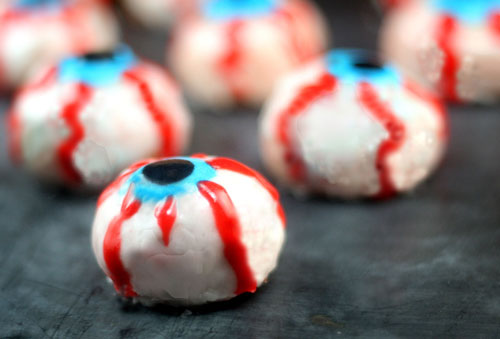 Bleeding Doughnut Hole Eyeballs