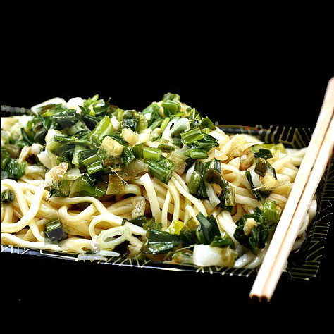 Not David Chang's Ginger Scallion Noodles