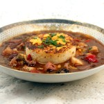 <em>Easy</em> Beef and Seafood Gumbo with Cheese Grit Cakes, Y'all.