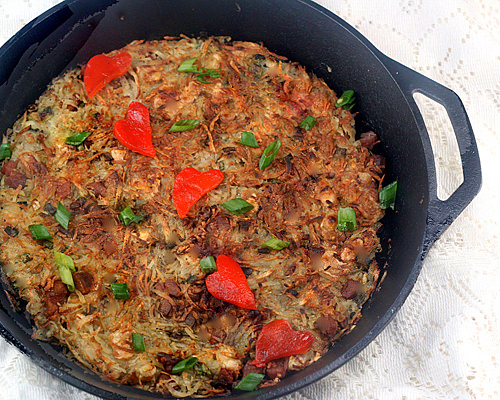 Rosti With Bacon And Scallions Recipe — Dishmaps