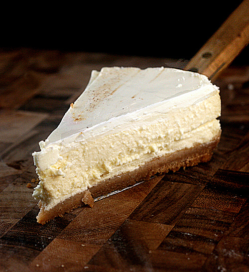 Skinny Cheesecake made with Cottage or Yogurt Cheese.  Super creamy and delicious - you'd never know it was only 245 calories a slice!