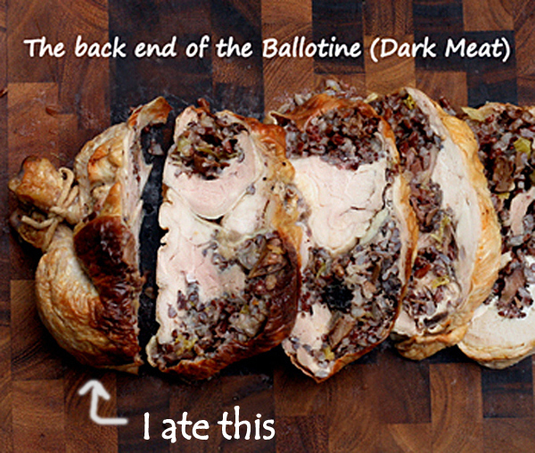 Chicken Ballotine with Red Rice Stuffing