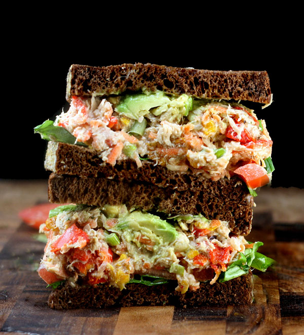 "Loaded Chicken (or Tuna) Salad with Greek Yogurt Ranch ""Mayo"""