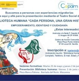 Cartel-Biblioteca-Humana-Talleres-Cepaim-Sevilla-350x263