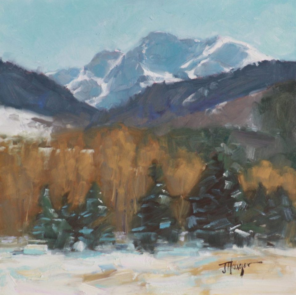 Original Oil- Backroad to Vail