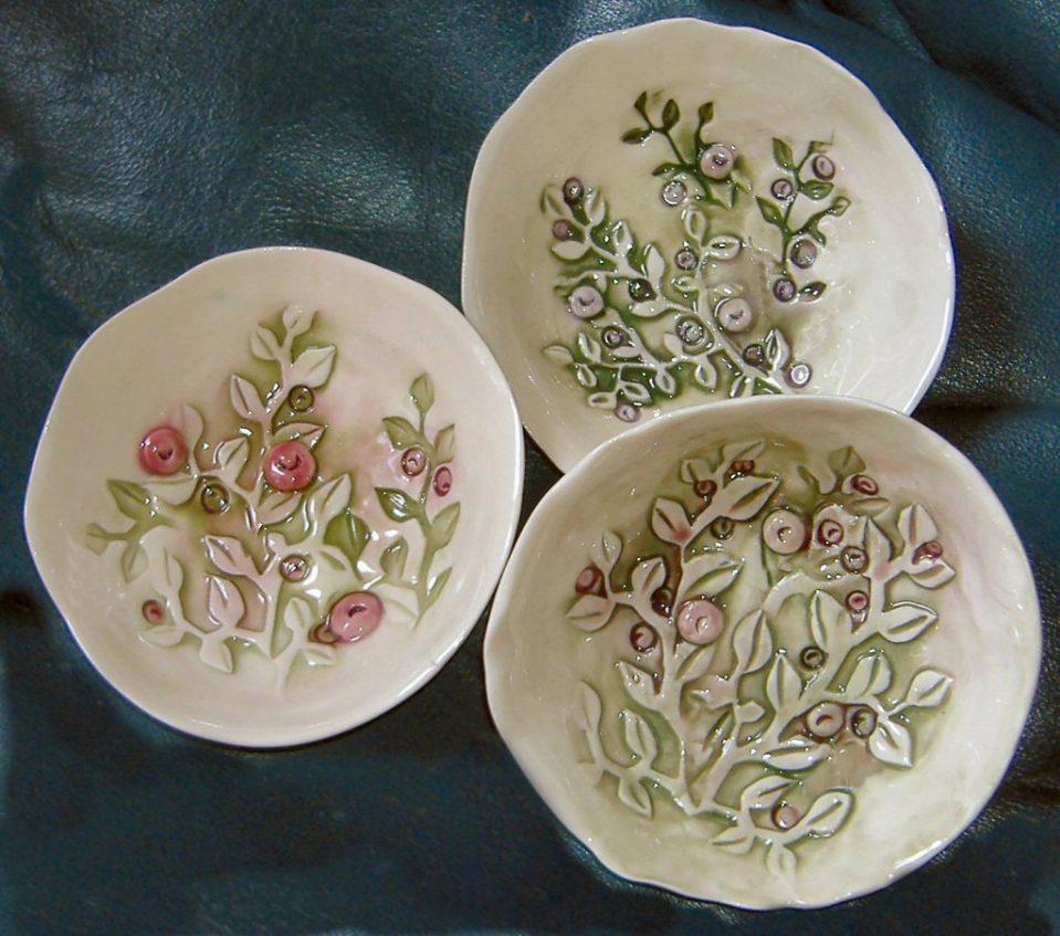 Small Porcelain Huckleberry Bowls