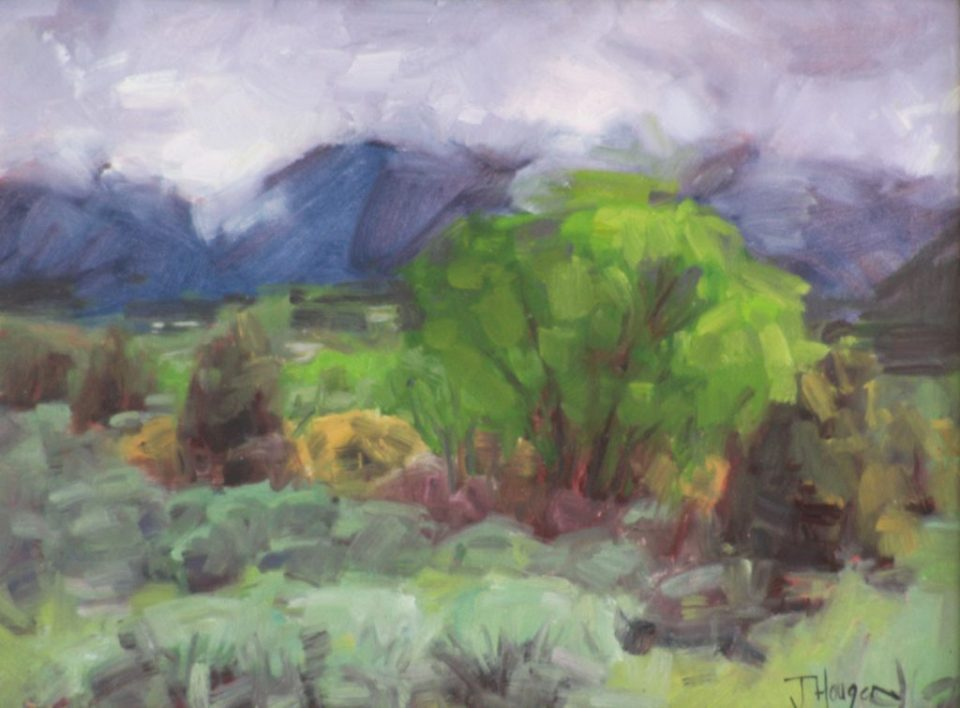 Original Oil- Clouds Decending on Taos Mountain