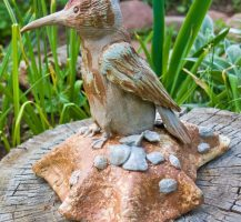 tasty meal,  bird sculpture