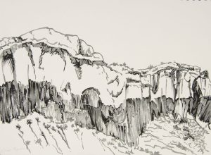 Ghost Ranch Pen and Ink