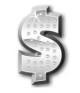 Silver Dollar Sign Symbol