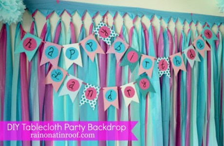DIY Tablecloth Party Backdrop 3