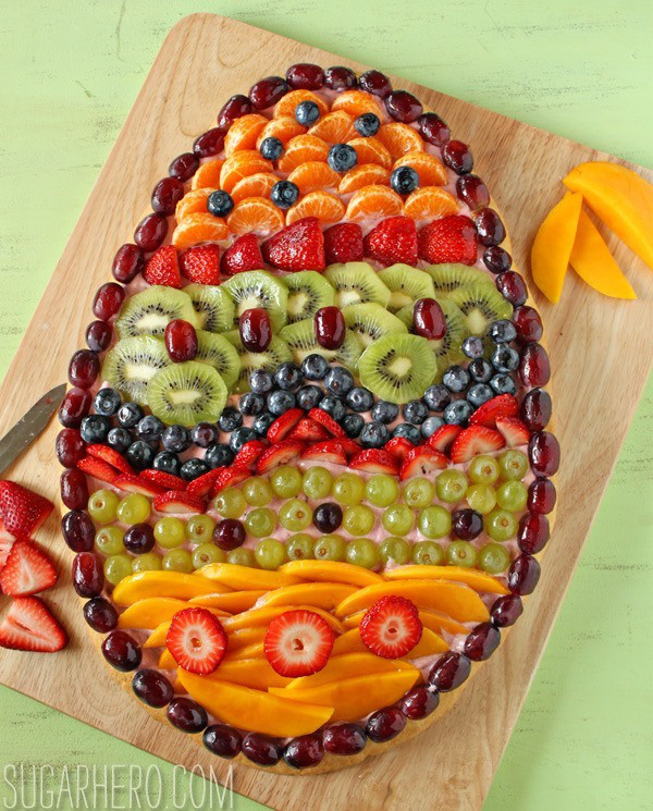 Egg Shaped Fruit Pizza Is a Tasty Easter Treat – Party Ideas