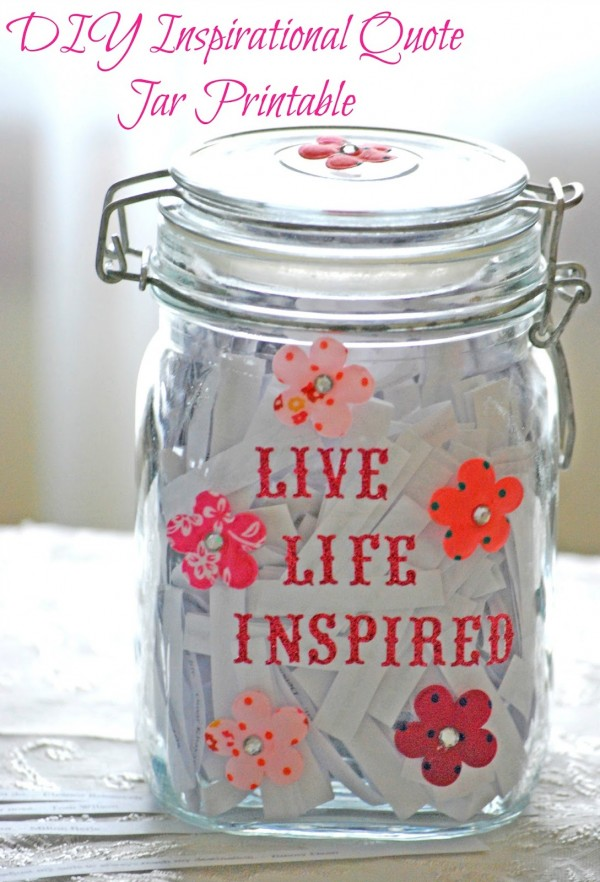 Make Your Own Inspiration Quote Jar with this Fabulous Free Printable