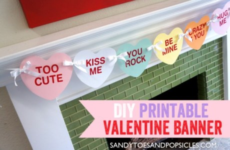 DIY Printable Valentine Banner