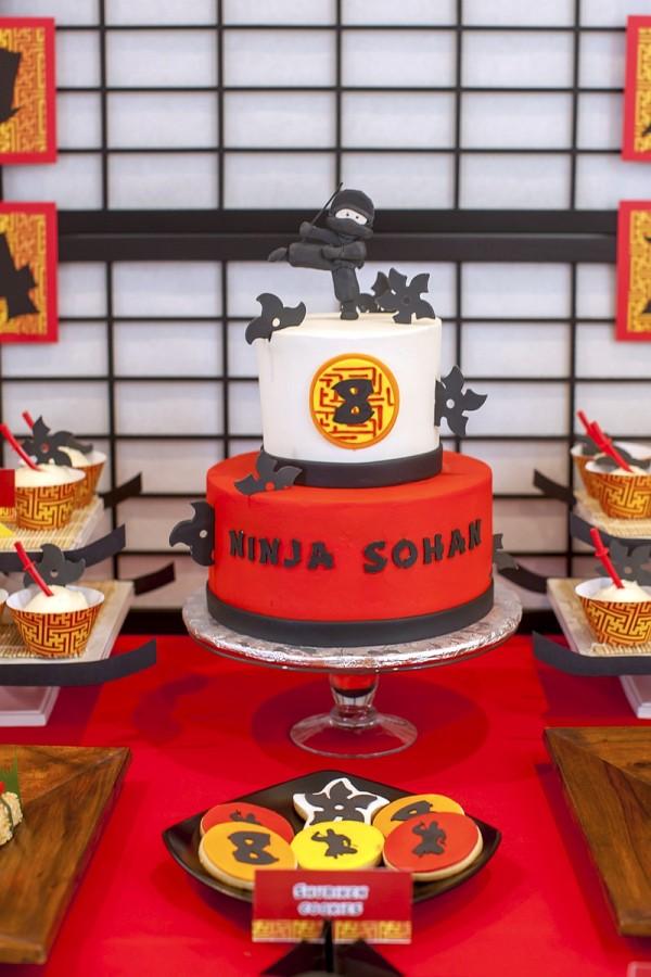 ninja-birthday-party-cake
