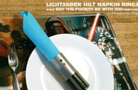 DIY Light Saber Napkin Rings