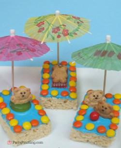 Great Kiddie Rice Krispie Beach Me Easy Summerrecipe Teddy Graham Rice Krispie Treat Kiddie Krispie Dessert Beach Party Ideas Kindergarten Beach Party Ideas College