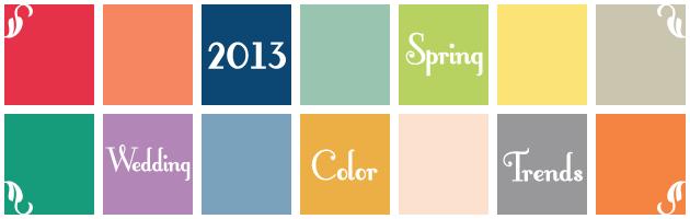 2013 spring wedding color trends