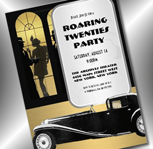 gangster flapper roaring 20s invitation - party simplicity