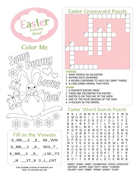 Free Easter Printables Kids Coloring Pages and More