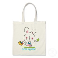 Easter eggs-pert cute Easter bunny tote bag