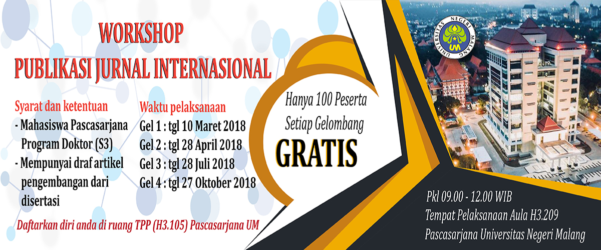 Workshop Publikasi Jurnal Internasional