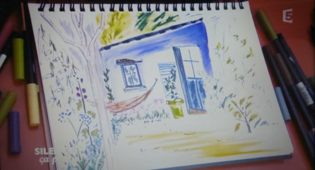dessin stephane marie jardin coleur