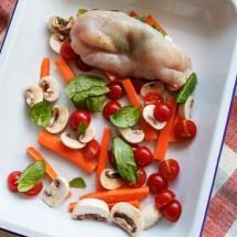 Passagem Gastronômica - Receita de Peito de Frango Recheado Assado com Legumes