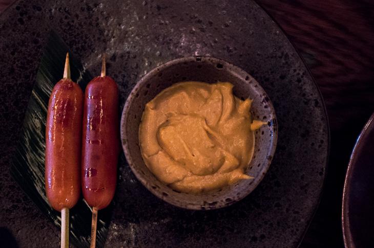 Passagem Gastronômica - Smoked Japanese Sausage - Restaurante Sexy Fish - Londres