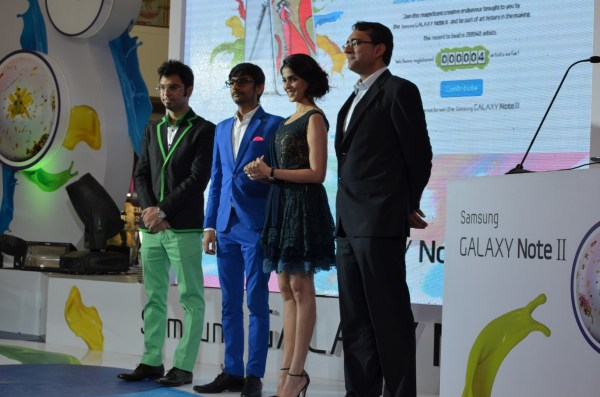 On the stage... with Thukral and Tagra... launching the artworks!