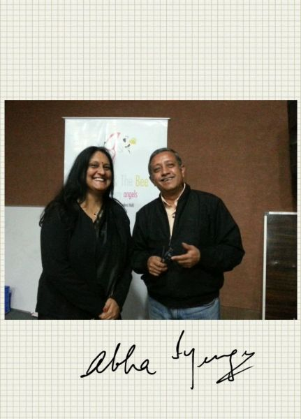 With Abha Iyengar, one of the authors awarded at the BTB Literary Awards function