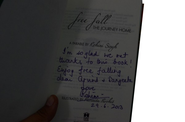 My prized autographed book by Rohini Singh