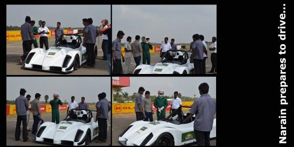 Driving with Narain Karthikeyan_Narain prepares to drive